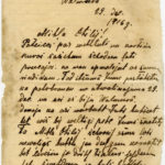 Letter from a Latvian rifleman to a girl named Otilia
