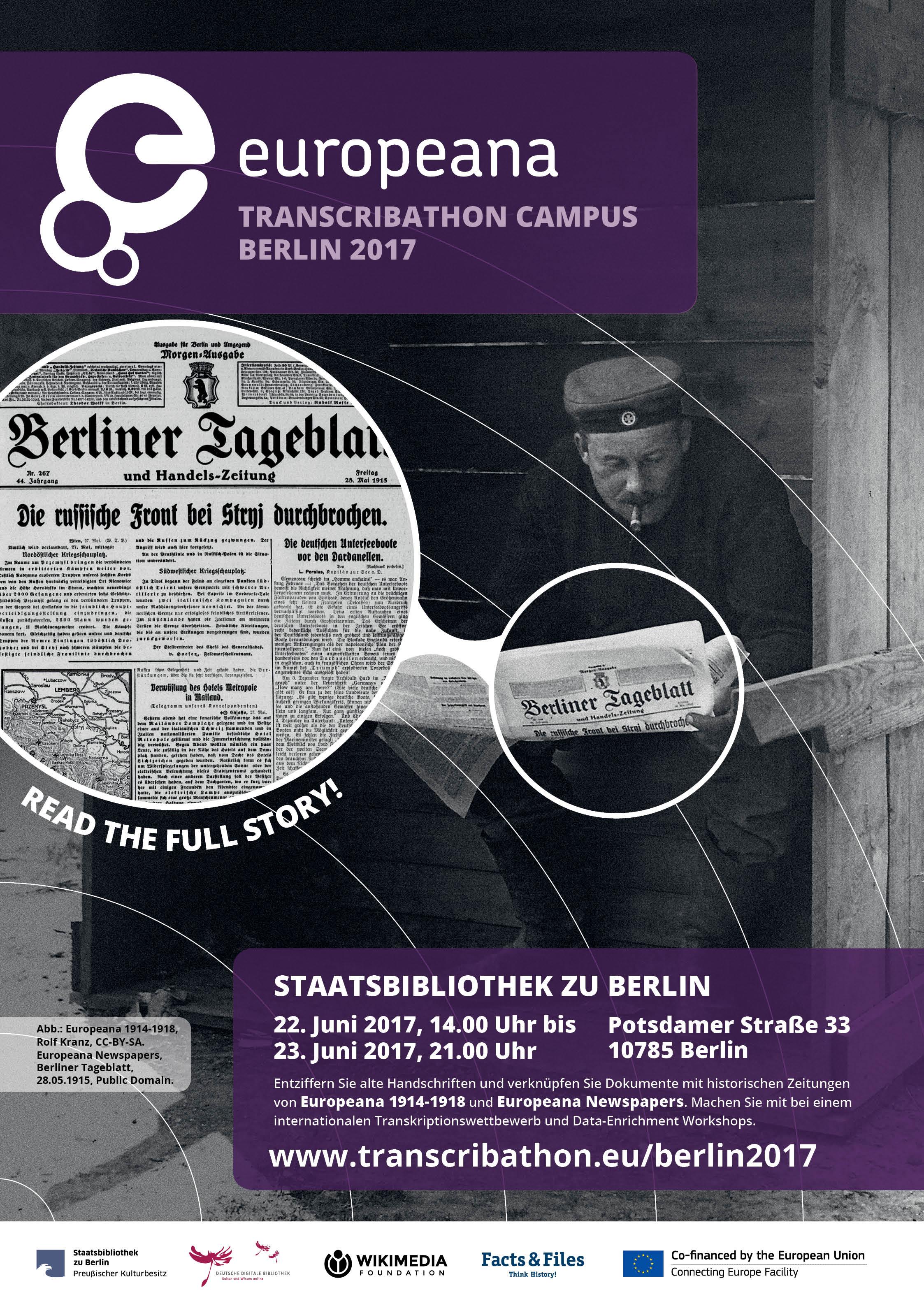 Transcribathon Campus Berlin 2017 Poster DE