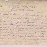 Victor Lafourcade courrier à sa fiancée