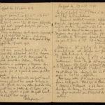 Seconde page du carnet de guerre du soldat Albéric Bru