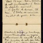 Extrait du journal du soldat Albéric Bru, Mai 1915