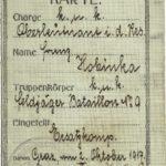 História bankového prokuristu menom Franz Hobinka z rokov 1914 - 1918 narukovaného do Grazu