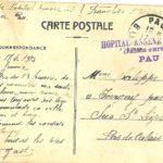 Carte postale envoyée de Pau par Gaston-Napoléon Saloppe à son épouse Mme Saloppe-Vast, à Ivergny par Sus-Saint-Léger (Pas-de-Calais), le 17 avril 1915