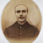 Portrait dessiné grand format de Eugène GAUVAIN, en uniforme militaire de conscrit du 26e Régiment
