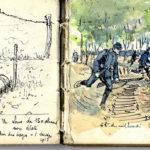 Carnet avec dessins, vue n°9 (1915).