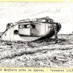 Tank anglais près de Morval (Novembre 1916).
