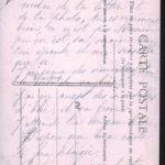 Carte postale écrite par Joséphine Jullien à son mari Louis