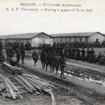 A.E.F. University - During a game of Base-Ball - Beaune, France  - circa 1919