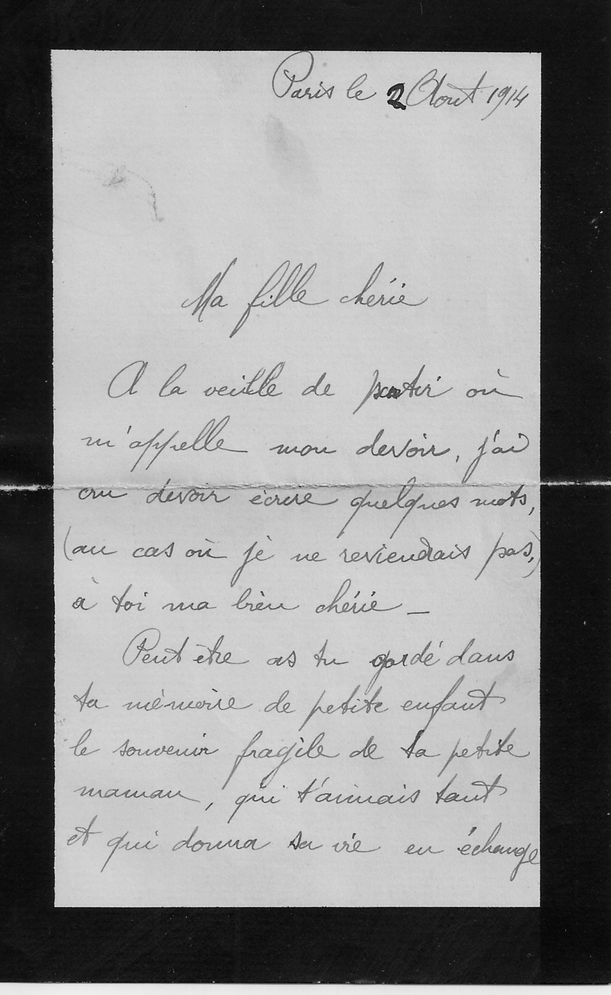 Lettre Dun Père à Sa Petite Fille Page 1 Transcribathon