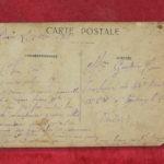 Carte postale écrite par Martial Gautier à son père Louis