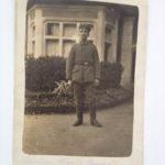 Feldpostkarte des späteren Ehemanns meiner Urgroßmutter, Musketier Karl Eckenbach, 23.1.1916
