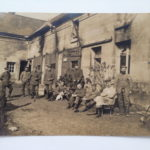 Foto, Feldunterkunf 11. Kompagnie, Ferme de Colombe, K. Eckenbach 3. von links