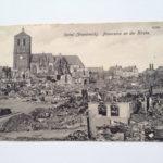 Foto vom zerstörten Rethel, Frankreich