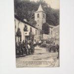 Feldpostkarte an K. Eckenbach, Feldlazarett Bouillonville, 2.3.1916, im September 1870 wohnte dort Bismarck