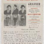 10- Page 1 d'une lettre sur affichette adressée à Madeleine Favre pour la remercier