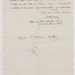 10b- Page 2 d'une lettre sur affichette adressée à Madeleine Favre pour la remercier