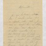 11- Deux lettres adressées à Madeleine Favre, dont une d'une mère recherchant désespérément son fils