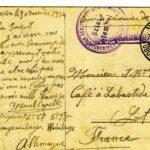 carte lettre camp prisonnier zossen