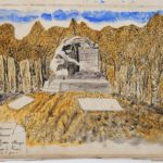 Monument élevé en souvenir des prisonniers français morts au camp de Zossen . Travail du scupteur Largès du Havre, prisonnier à Zossen.