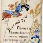 Page de garde du recueil de textes de chansons chantées au camp de Zossen.