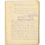 Cahier de poésies de guerre