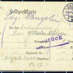 Hedwig Nehlsen schreibt ihrem Mann Wilhelm an die Ostfront - 1914, item 12