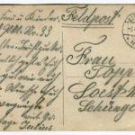 Julius Topps Ostergrüße von der Ostfront an seine Familie in Soest , item 2