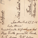 Feldpostkarte Rückseite  Januar 1916 aus Frankreich