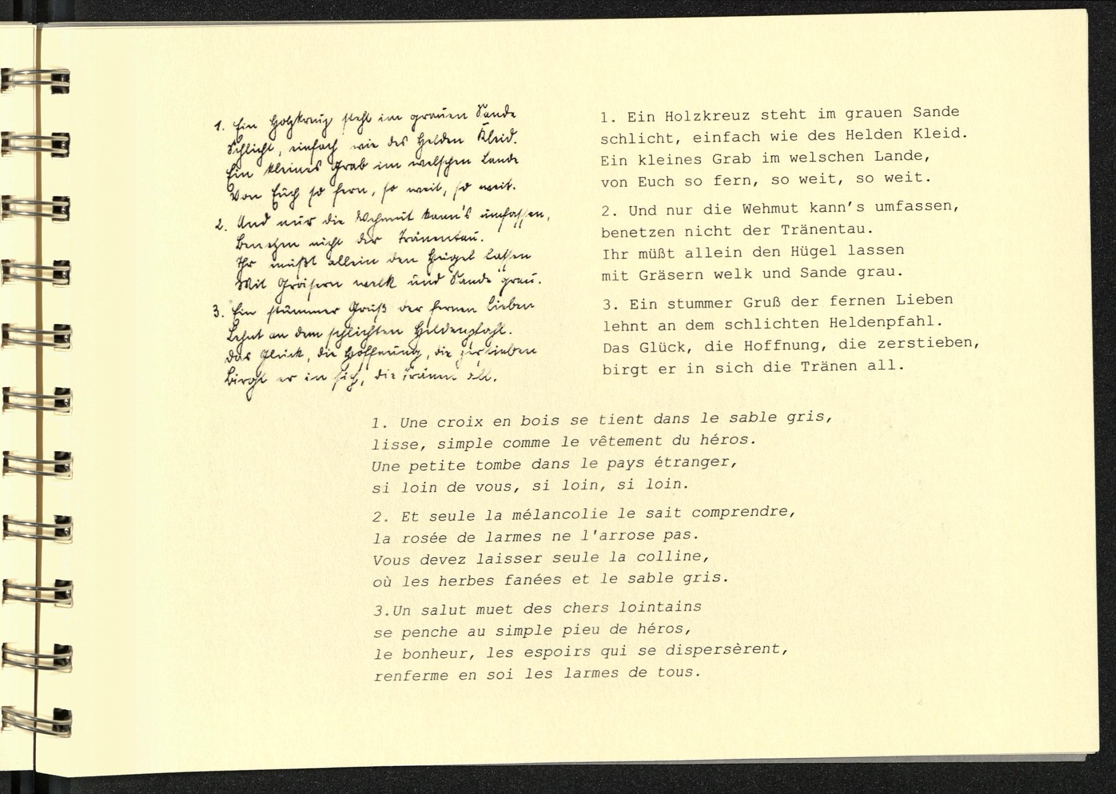 Gedichte Des Leutnants Der Reserve Franz Berens Item 53