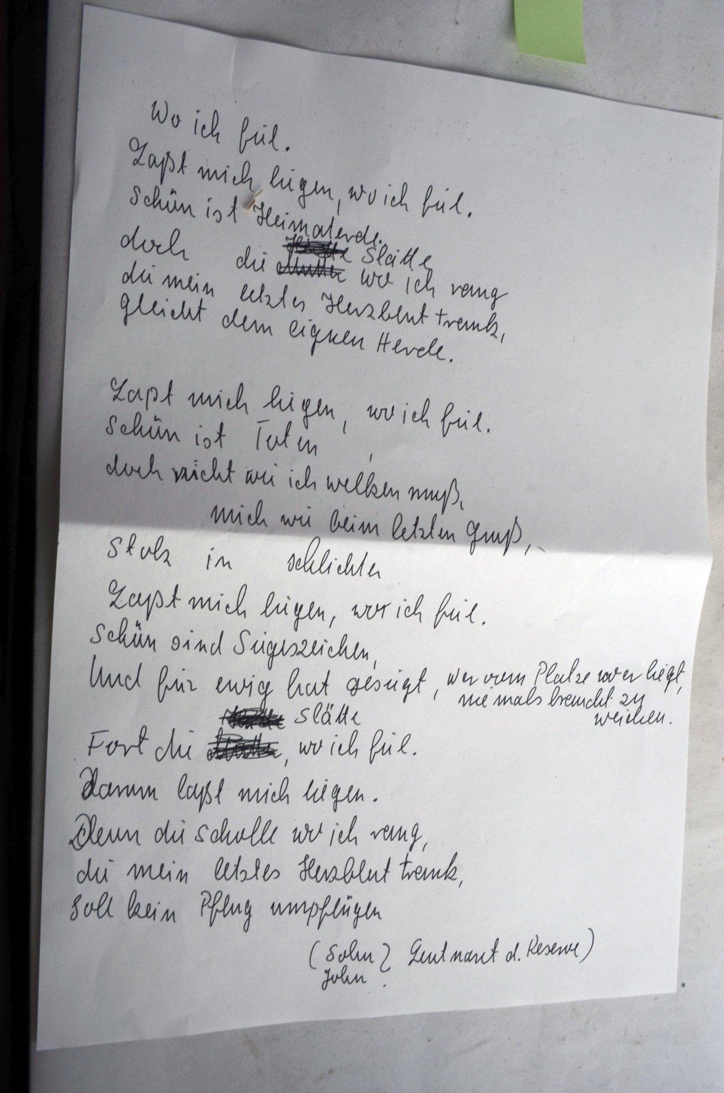Gedicht Ein Heldenleben Von Georg Zufall Der Nach Dem