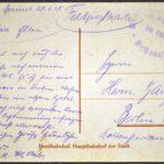 Feldpost von Richard Gänger aus dem Jahr 1918, item 76