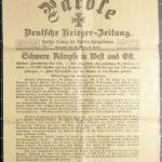 Kriegszeitungen aus dem Besitz von Carl Popp