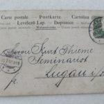 Eine der acht Rückseiten: Aus dem Leben des Kaiser Wilhem II. in acht Postkarten vom Jahre 1901