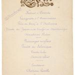 Menu de Noël 1915