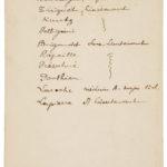 Menu de Noël 1915 - liste des invités