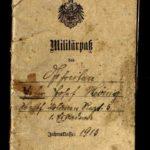 Militärpass von Peter Josef Hönig vom Westfälischen Ulanen-Regiment Nr. 5