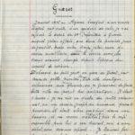 Première page du journal d'Henri Monjoffre.