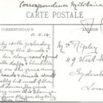 Postcard from Nurse Margaret Ripley in Dunkirk to her mother, sent 11 April 1915