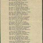 Gedichte von Franz Volkhausen, geschrieben an der Düna 1915, 1916, item 3