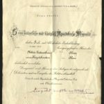 Ehrenurkunde zur Verleihung des Militärverdienstkreuzes Kl. III an Hugo Merten, item 1