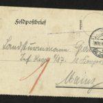 Sammlung von Briefen der Gebrüder Gierse aus Bödefeld bei Meschede, item 6