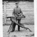 Photographien meines Großonkels Franz Weske als MG-Schütze beim 2. Landsturm-Infanterie-Bataillon Neumünster IX/25