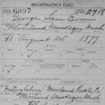 My Great Father's Registration Card