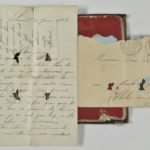 Portefeuille de Pierre Rodot, traversé par une balle reçue en août 1914.