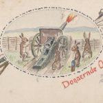 Selbstgemalte Ansichtskarte als Ostergruß von Paul WauerWauer