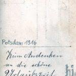Selbstgemalte Ansichtskarte als Ostergruß von Paul WauerWauer, item 4