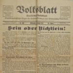 Zeitungen aus der Kriegszeit 1914