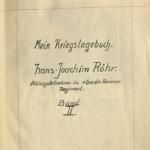 Kriegstagebuch von Hans-Joachim Röhr aus Görlitz - Band 2