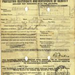 Protection Certificate and Certificate of Identity, Joseph Kendrick