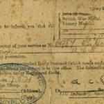Notification of War Medals, Joseph Kendrick